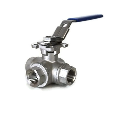 3WAY BALL VALVE(ISO PAD/자동용)SUS316