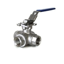 3WAY BALL VALVE(ISO PAD/자동용)SUS304